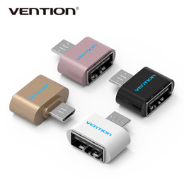Wholesale Drop Shipping Cell Phones - Drop shipping Vention Original pack VAS-A07 Micro USB To USB OTG Mini Adapter 2.0 Converter for Android,Cell phones accessories Android