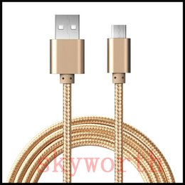 Wholesale Micro Usb Extension Cable - Good Quality 3Ft 6Ft 2M 10ft 3M Micro usb Fabric Braided Nylon Sync Universal Micro USB Cable Cord Extra Long Extension