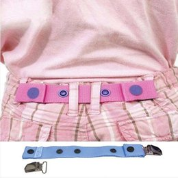 Wholesale Adjustable Regulator - Children Trousers Adjustable Waist Belt Clips Kids Pants waistband size Regulator 5 17.8*2.5cm