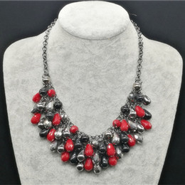 Wholesale Statement Necklaces Multi Layers - Brand New Choker Jewelry Cheap Crystal Necklace Colares Fashion Multi Layer Black Chains Statement Necklaces For Women DHL Shipping