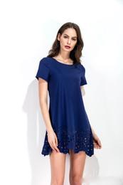 4f04783dc Venta caliente de las mujeres ropa de verano vestidos de personalidad  diseño de corte hueco moda sexy chica vestidos de cuello redondo tamaño S M  L XL cheap ...