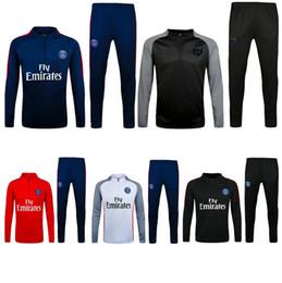 Wholesale Top Grey Suits - top thai quality 16 17 PSG jacket Training suit kits soccer Jersey 2016 DI MARIA CAVANI VERRATTI LUCAS PASTORE MATUIDI PSG football shirts