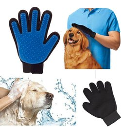 Wholesale Sports Products Wholesalers - Pet Finger Silicone dog Glove Deshedding Gentle Efficient Pet Grooming Dogs Bath Pet Supplies with touch dog cleaning by dhl shipping