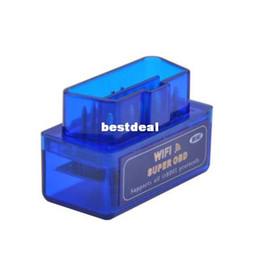 Wholesale Top Auto Code Readers - 2017 Latest Version MINI ELM327 WIFI OBD2   OBDII Auto Diagnostic Scanner Tool ELM 327 WiFi TOP quality 10pcs lot