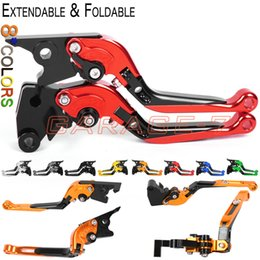 Wholesale Cbr F2 Clutch Lever - 8 Colors Motorcycle CNC Folding Extending Lever For Honda CBR 600 F2 F3 F4 F4i 1991-2007 2006 Moto Extensible Foldable Brake Clutch Levers