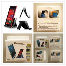 Wholesale Portable Folding Tablet Stand - Three-color desktop universal folding mobile phone stand Tablet PC Universal stent portable lazy stent Holder Small Gifts