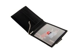 Wholesale First Slot - First Layer Crazy Horse Gunuine Leather Slim Card Holder With 1pc Money Clip 5pcs Card Slots RFID Card Holder Leather