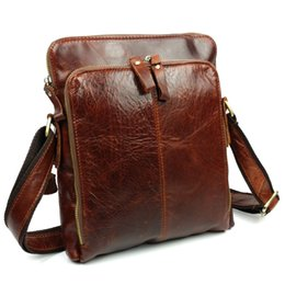 Wholesale Mini Briefcase Men - Wholesale-100% Genuine Leather Men's Shoulder Bags Briefcase Male Real Leather Business Travel Bag Fashion Brand Messenger Bag