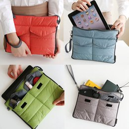 Wholesale Satchel Storage Bags - Wholesale- Organizer Sleeve Pouch Storage iPad Bag Travel Ipad Mini Soft With Handles HB88