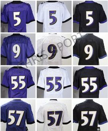Wholesale Football Baltimore - Elite football jerseys 5 Joe Flacco Justin Tucker Lardarius Webb C.J. Mosley 55 Terrell Suggs Baltimore jerseys stitched 100% mix order