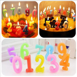 Wholesale Fireworks Art - Lucky Arab Number Art Candle Kids Gift Mini Candles Birthday Wedding Festival Exotic Atmosphere Source Valentine' Day Gift