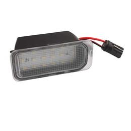 luz de tejadilho de emergência âmbar 12v Desconto CARRO PARA Ford 2 PCS FREE ERROR 18SMD LED Lâmpada de Placa de Licença 12 V