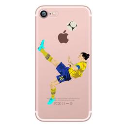 Wholesale Iphone Case Cristiano - Transparent Football Stars cristiano Ronaldo messi For IPhone 5 5S SE 6 6S Plus 7 Phone Case Ultra slim silicone Tpu Phone Cover