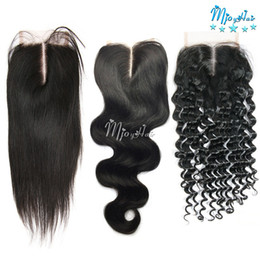 Wholesale Swiss Lace Indian Remy Closure - Brazilian 4x4 inch Swiss Lace Closure Straight Body Deep Wave Remy Hair Extensions,Virgin Human Hair Weave 8-20 Inch Swiss Lace Closures