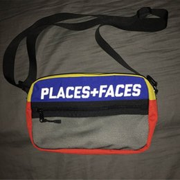 Wholesale Colorful Mobile - PLACES+FACES Life Skateboards 17ss Bag Attractive Cute Casual Men's Shoulder Bag Mini Mobile Phone Packs Colorful Storage Bag Messenger Bags