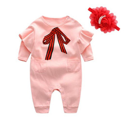 Wholesale Next Sets - NewBorn Baby Clothes Autumn Winter Cotton Baby Rompers Next Kids Infant Clothes Sets Christmas Baby Girls Costume