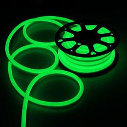 sinais de piscina Desconto 100m corda luzes LED SMD2835 120 LED 110v 120v néon flexível faixa de luz branca fria Decor iluminação exterior levou luz natal decoração