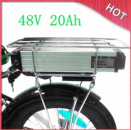 Wholesale Electric Scooter Battery Charger 48v - FREE fast Shpping Capacity Electric Bike scooter Battery 48V 20Ah Lithium Battery 1000W   Rear Rack motor Battery with BMS 54.6V and Charger