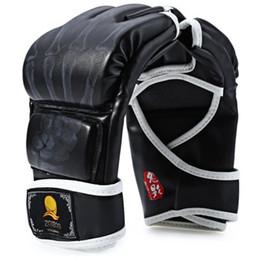 Wholesale Half Finger Gloves Designs - Zooboo 1 Pair Half Finger Boxing Gloves New Design Foam Rubber Leather Sanda Fighting Sandbag Gloves With Cartoon Talons Image +B