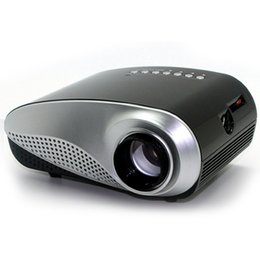 Wholesale Inch Led Vga - Wholesale-Portable Mini Led Projector 60 Lumens Projection Size 20-100 Inch With Speaker HDMI  SD USB VGA AV TV Home Theater System Beamer
