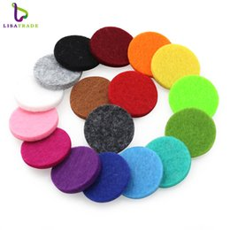 Wholesale Essential Oil Round Diffuser - 100pcs Many Colorful Round Essential Oils Diffuser Locket Pads Fit for 30mm Perfume Aroma Locket Replacement Pads NE598