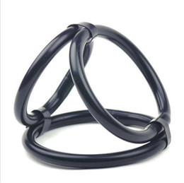 Wholesale Triple Cock Rings - Triple Cock and Ball Ring Enlarger Enhancer Penis Stimulator Durable Impotence
