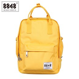 Wholesale Trendy Backpacks For Women - Wholesale- 8848 Backpack 100% Polyester 500 D Waterproof Resistant Oxford Casual Travel School Bags For College Student Trendy SDS15008-2