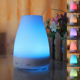 Wholesale Warm Mist Humidifier Aroma Diffuser - LED Light Color Changing Air Humidifier Aroma Diffuser USB Portable Ultrasonic Humidifier for Home Mist Maker Fogger Diffuser DHL free