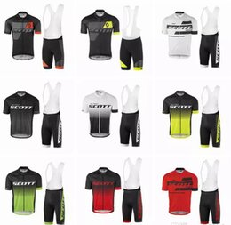 Wholesale Scott Cycling Suit - 2017 new SCOTT Bisiklet team sport suit bike maillot ropa ciclismo cycling jersey Bicycle MTB bicicleta clothing set
