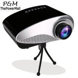 Wholesale Led Projecteur Lcd - Wholesale-2016 Mini HD Projectors LED LCD Proyector Home Multimedia Cinema Projetor VGA USB AV Projecteur WIth Tripod