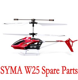 Wholesale Radio Control Aircraft - Spare Parts for SYMA W25 3CH radio controlled helicopter Aircraft Intelligent RC Electric Toys Children Syma Mini Helicopter