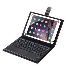 "Wholesale Tablet Cover Bluetooth Keyboard - Bluetooth 3.0 Keyboard Leather Case With Touch Panel for Android Windows Ios Tablet PC Case Cover 7 8 9"" 10 Inch Support 3 Systems Universal"