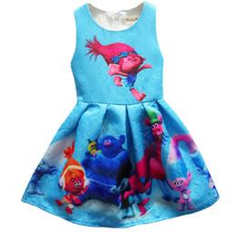 Wholesale Duck Dress Baby Girl - 2017 new arrive,summer baby girl Bobby princess dress girl Trolls clothes for kids,children Trolls dresses girl's clothing