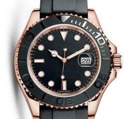 relógio levou escuro Desconto New Hot 18 K Rose Pulseira de Relógio de Borracha De Ouro Moda 40mm Cerâmica Bezel Mens Watch Automático Auto-Vento de Luxo Relógios Clássico Rei