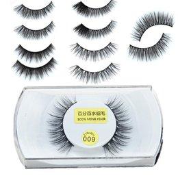 Wholesale Eyelashes Bushy - High Quality 3D Natural Bushy Cross False Fake Eyelashes Mink Hair Handmade Eye Lashes Strengthen The Eyelash