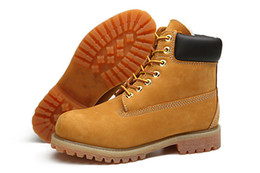 Wholesale Boots Woman Martin Suede - 2017 Fashion Brand Classic 10061 Wheat Yellow TBL Boots Women Mens Retro 6-Inch Waterproof Outdoor Work Sports Shoes Casual Sneakers Boots