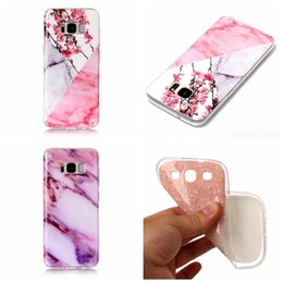 Wholesale Galaxy S4 Clear Hybrid Cases - Case For Galaxy S8 Plus S7 Edge S6 S5 S4 S3 Flower Lace Marble Soft TPU IMD Rock Granite Hybrid Silicone Gel Stone Fashion Natural Cover