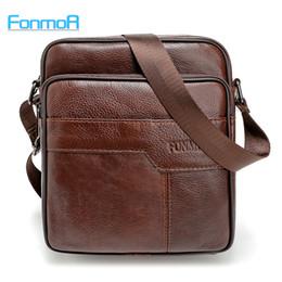 Wholesale Leather Envelopes For Men - Wholesale- FONMOR 100% Genuine Leather Men's iPad Tabelt Cowskin Bag Designer crossbody bag Men Messenger Bags for gift brown