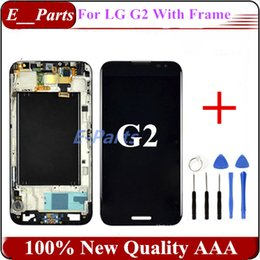 Wholesale Original Lg Optimus - 1Pcs For LG Optimus G2 D800 D801 D802 D805 LCD Display + Touch Screen Digitizer with Good Frame (100% Quality AAA Original screen)