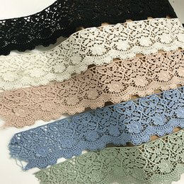 Wholesale Bridal Clothing - 6CM Width Europe Flower pattern Inelastic Embroidery Embroidery Trims,Curtain Tablecloth Slipcover Bridal DIY Clothing Accessories.