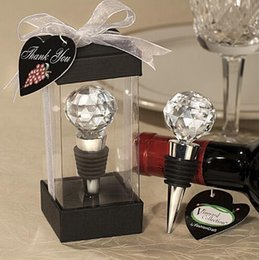 Wholesale Bottle Stopper Wedding Favors - Hot sell vineyard collection crystal wine bottle stopper wedding favors 50 PCS free shipping