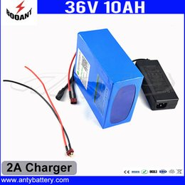 Wholesale Electric Bicycle Free Shipping - Electric Bicycle Battery 36V 10Ah Use 18650 Cell With 2A Charger Lithium Rechargeable Battery 36V Built-in 30A BMS Free Shipping