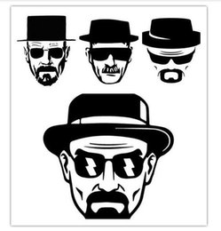 Wholesale Macbook Pro Vinyl - Breaking Bad Heisenberg Sticker - Vinyl Decal for Apple Macbook Air Pro Laptop Vinilos Paredes Black Wall Stickers