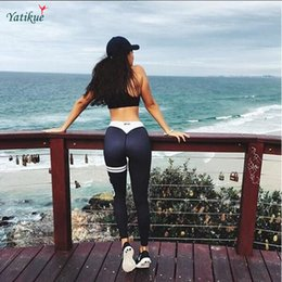 Wholesale Tight Black Clothes - Hot! Women sport legging Yoga Pants Ladies Sexy Hips Push Up Leggings Breathable Running Tights Sports Women Clothes 8 color