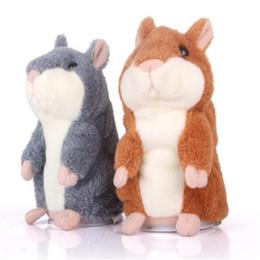 Wholesale Animal Speak - Talking Hamster Cartoon Plush Toy Soft Stuffed Animals Anime Baby Cute Speak Talking Sound Record Lovely Hamster Talking Doll for Children