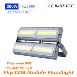Wholesale Cob Modules - High Power 200W Flip COB Ultrathin Floodlights 20000lm AC110V 220V Module LED Cast Light IP66 for Tunnel Gas Station and Outdoor Lighting