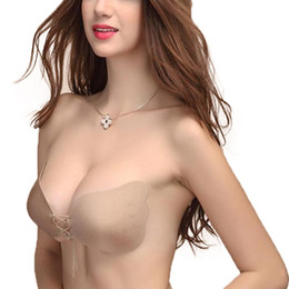 Wholesale Adhesive Lifts - Wedding and Events Invisible Bra for Bridal Push Up Undergarments Sexy Gather Bra Underwear Anti-Drooping Breast Lift Silicone Bra