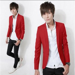Wholesale Stylish Spring Mens Jackets - Wholesale- 2016 Spring New Arrival Fashion Candy Color Stylish Slim Fit Mens Jackets Jacket Casual Business Dress
