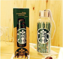 Wholesale Hand Warmers Retail - Lemon water bottle glass bottle starbucks bottle kids water cup Student water glasses comes with retail box