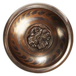 9 cm buddismo tibetano martellato yoga ottone meditazione in rame ciotola di canto con la mano martellata bastone arte decorazione regali artigianali da